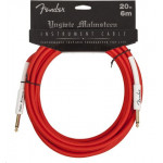 Fender YMG 20ft Instrument Cable Red