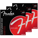 Fender 250R Nickel Plated Steel, Ball End 10/46 - 3 Pack