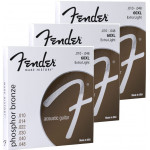 Fender 60XL Phosphor Bronze, Ball End 10/48 - 3 pack
