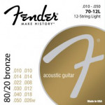Fender 70-12L 80/20 Bronze, Ball End 10/48