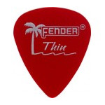 Trsátka set Fender Calclear Picks,12 Pack, Ca Red Thin